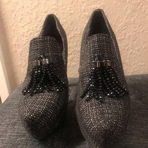 Simply Vera Wang Beaded Tassel Heels